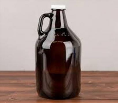 2L Growler California glass bottle