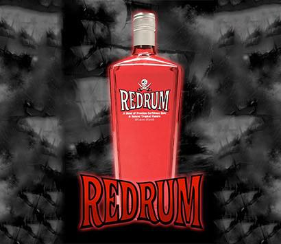 750ml Red Rum Glass Bottle