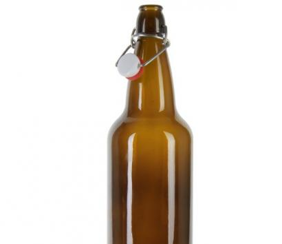 1L Amber Beer Glass Bottle